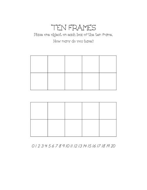 small resolution of 36 Printable Ten Frame Templates (Free) ᐅ TemplateLab