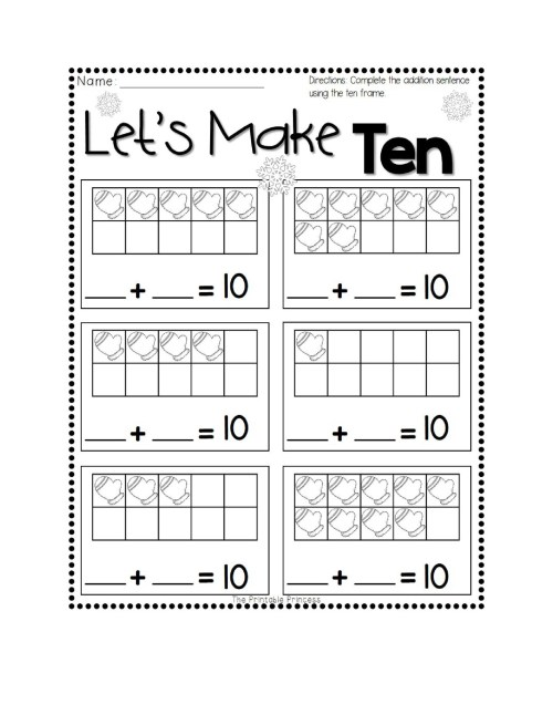 small resolution of 36 Printable Ten Frame Templates (Free) ᐅ TemplateLab