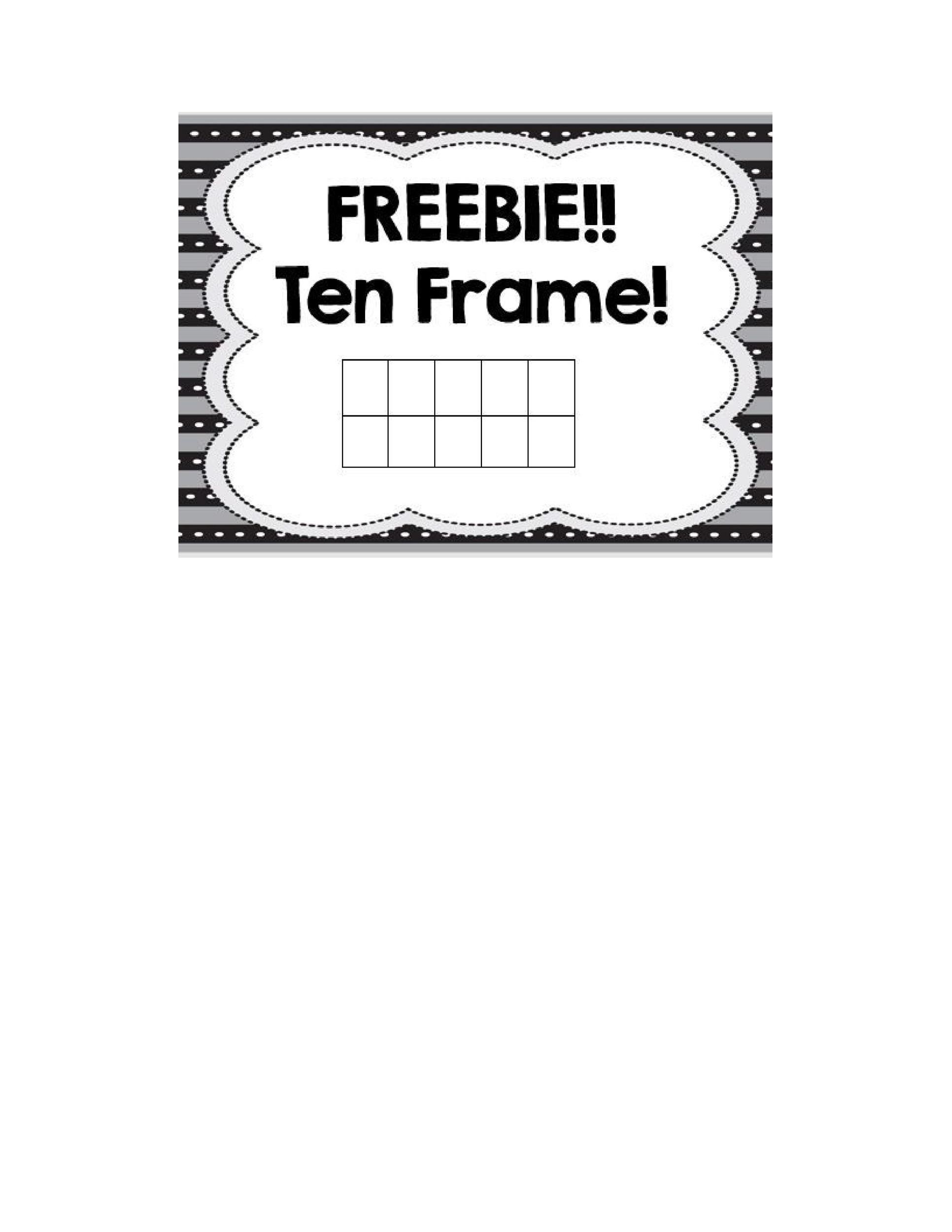 Printable Worksheets » Free Printable Ten Frame Worksheets