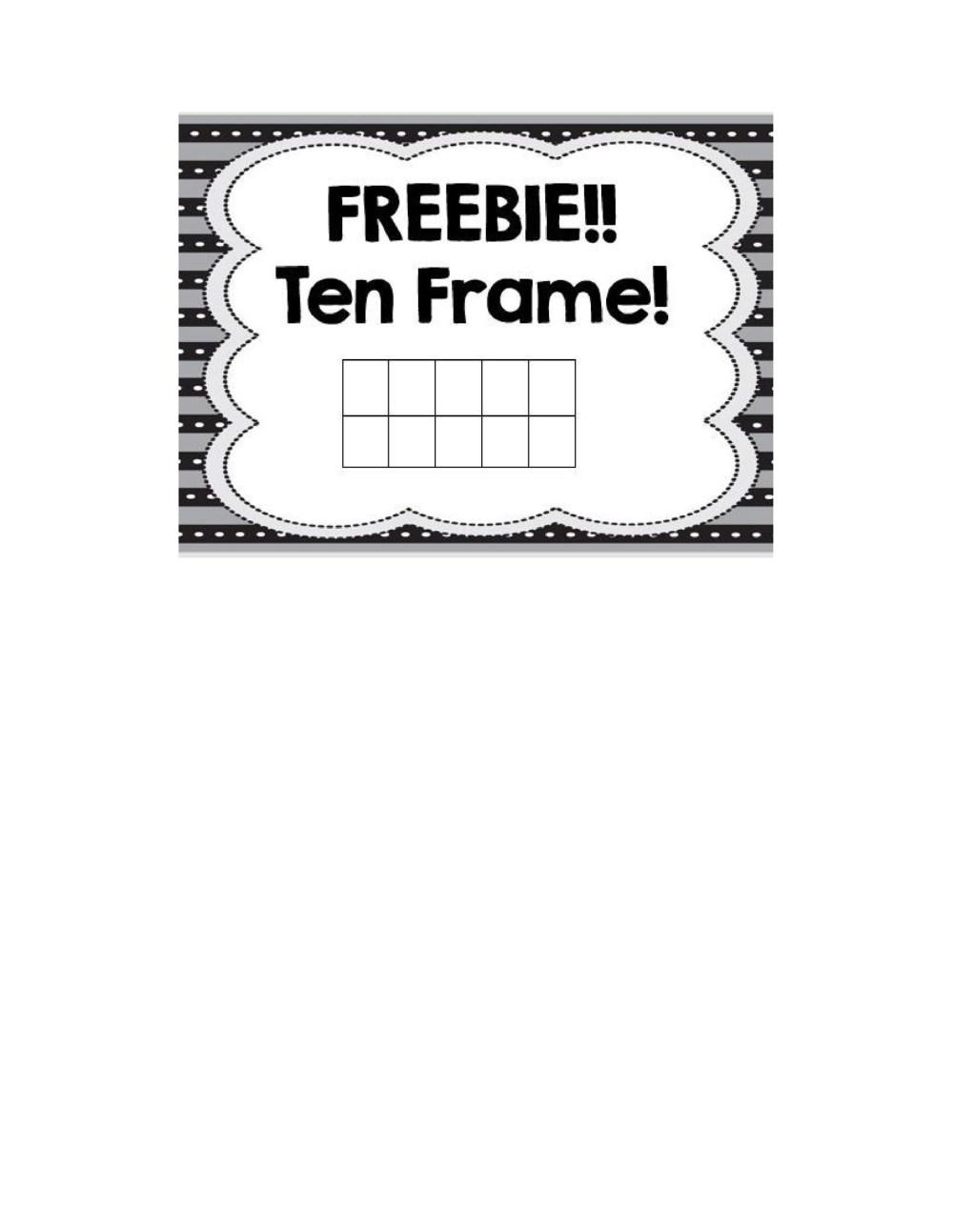 medium resolution of 36 Printable Ten Frame Templates (Free) ᐅ TemplateLab