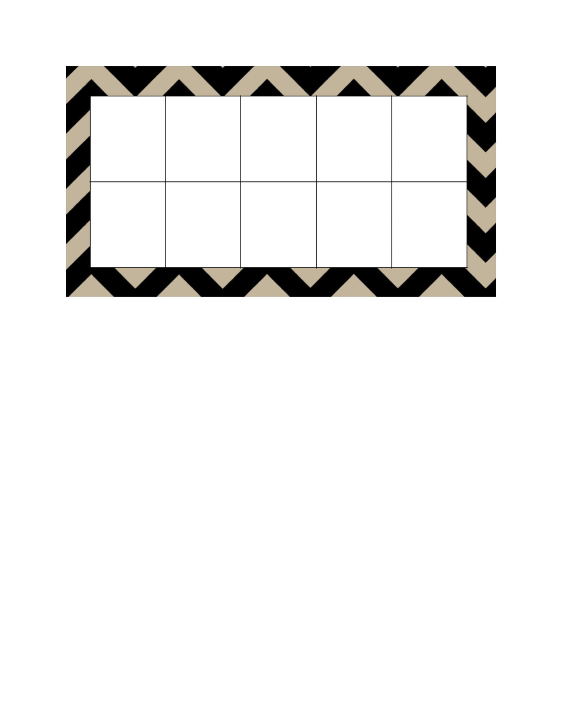 36 Printable Ten Frame Templates Free Templatelab