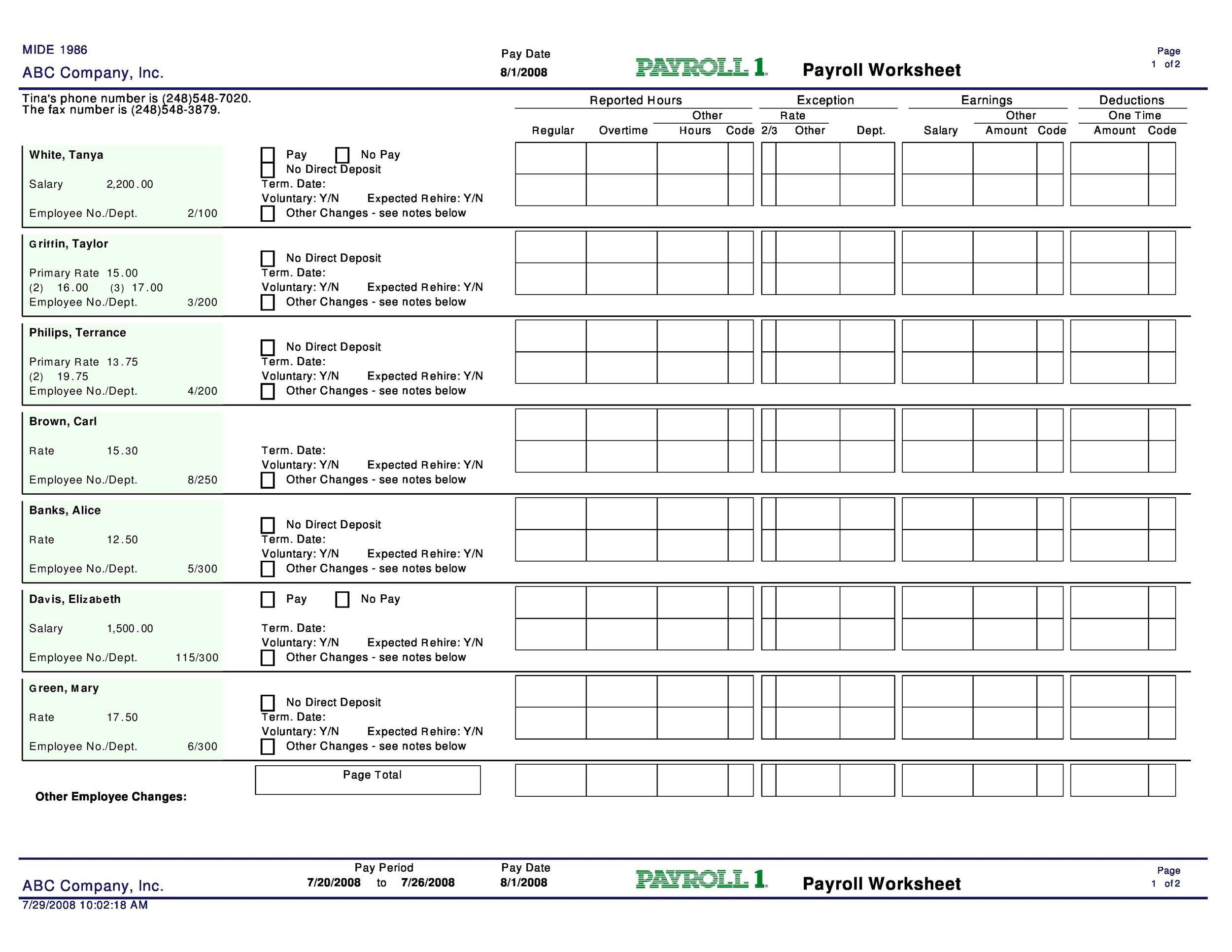 Payroll Calculator Templates