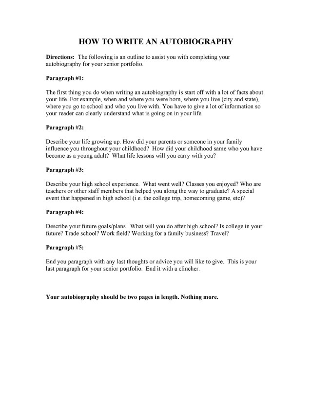 26 Autobiography Examples ( + Autobiographical Essay Templates)