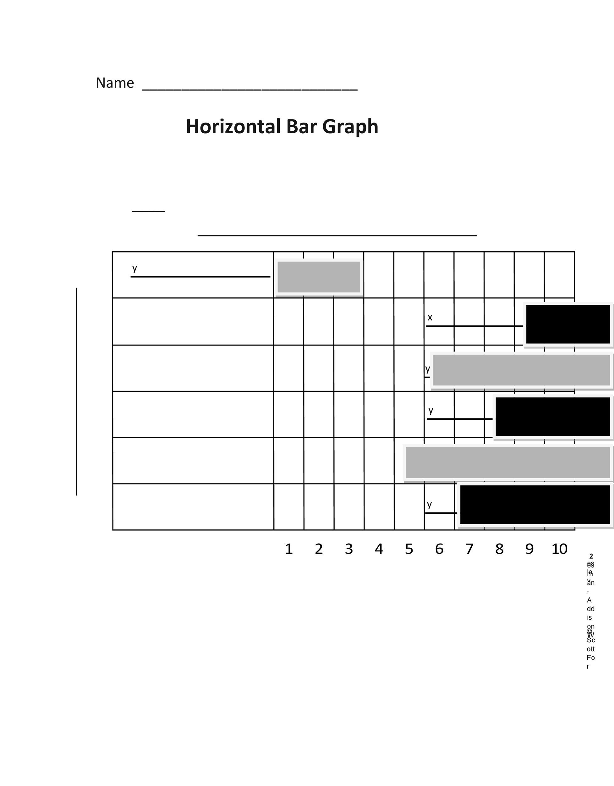 41 Blank Bar Graph Templates [Bar Graph Worksheets] ᐅ