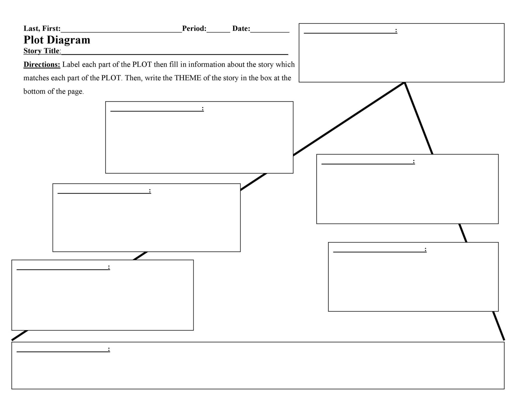 hight resolution of free plot diagram template 13