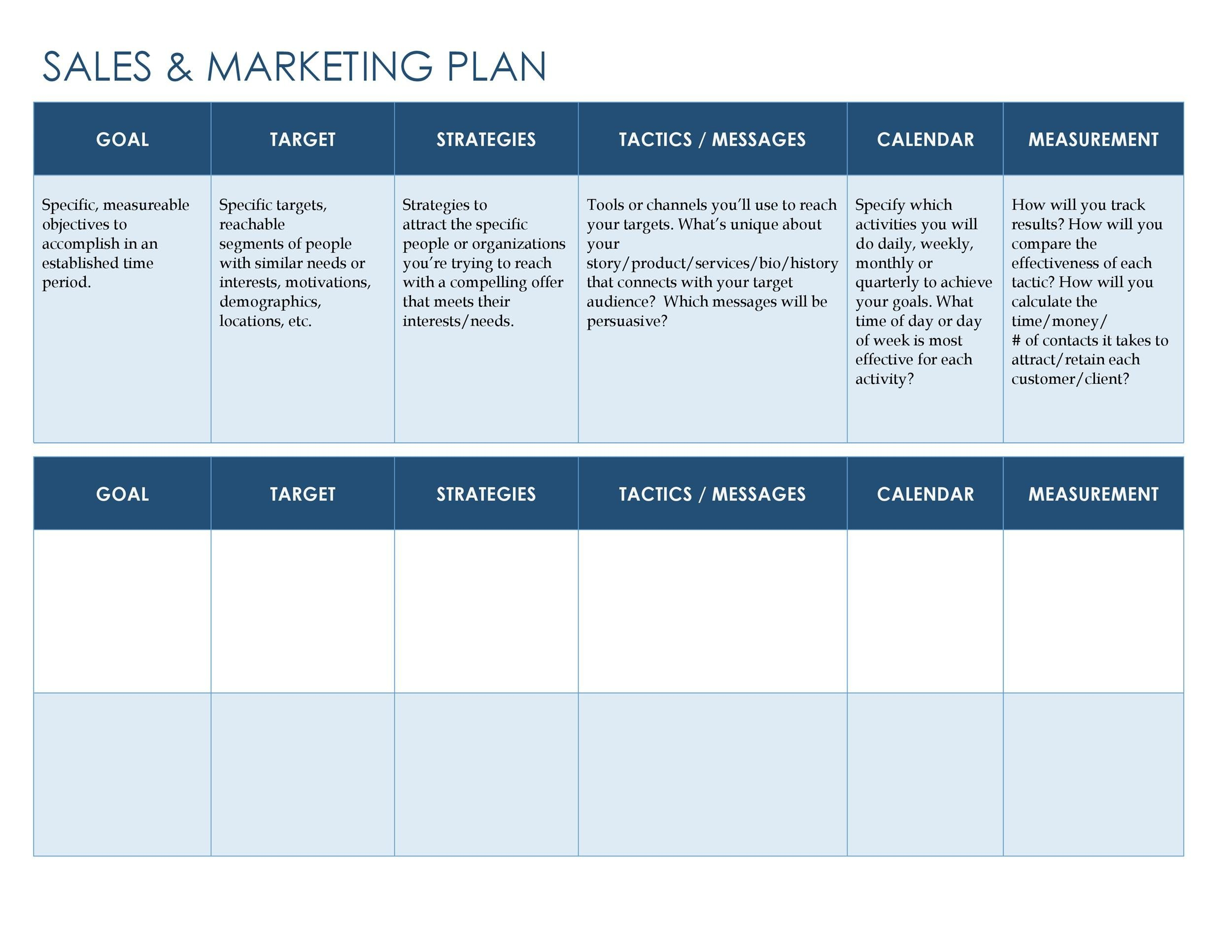 32 Sales Plan Amp Sales Strategy Templates Word Amp Excel