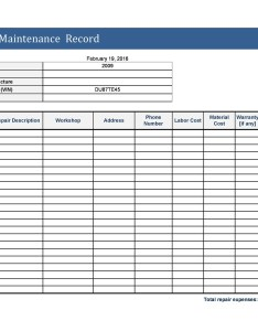 Free vehicle maintenance log template also printable templates lab rh templatelab