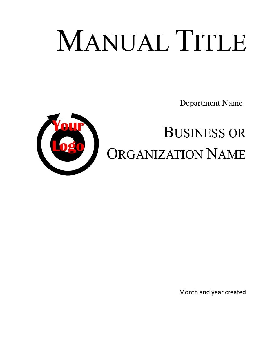 40 Free Instruction Manual Templates [Operation / User Manual]