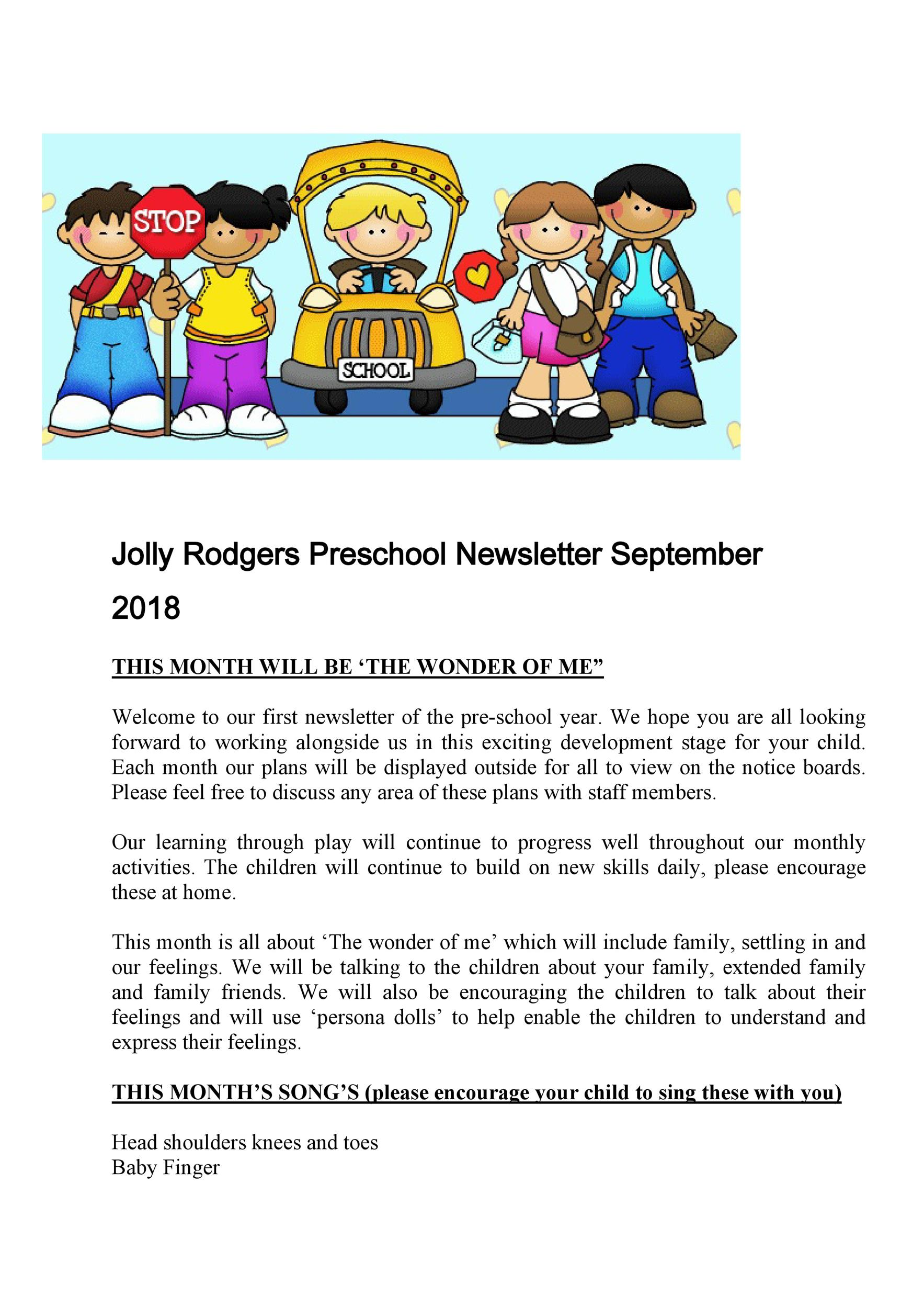 To edit the content…then just download the filled in file to print. 50 Creative Preschool Newsletter Templates Tips Á… Templatelab
