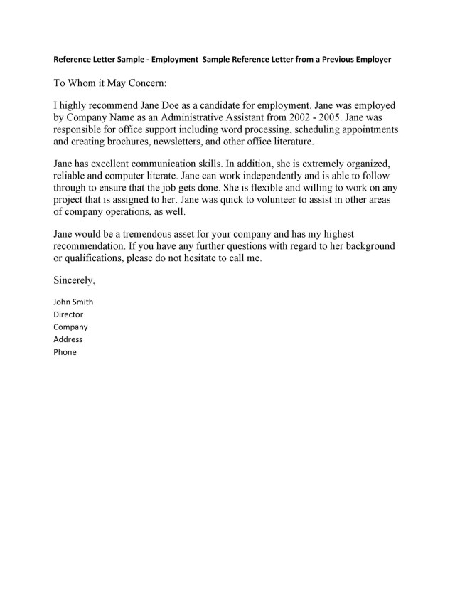 10 Best Recommendation Letters For Employee From Manager