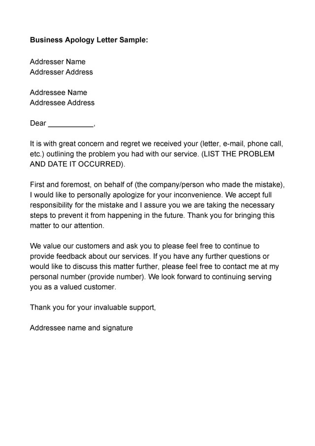 14 Useful Apology Letter Templates (& Sorry Letter Samples)