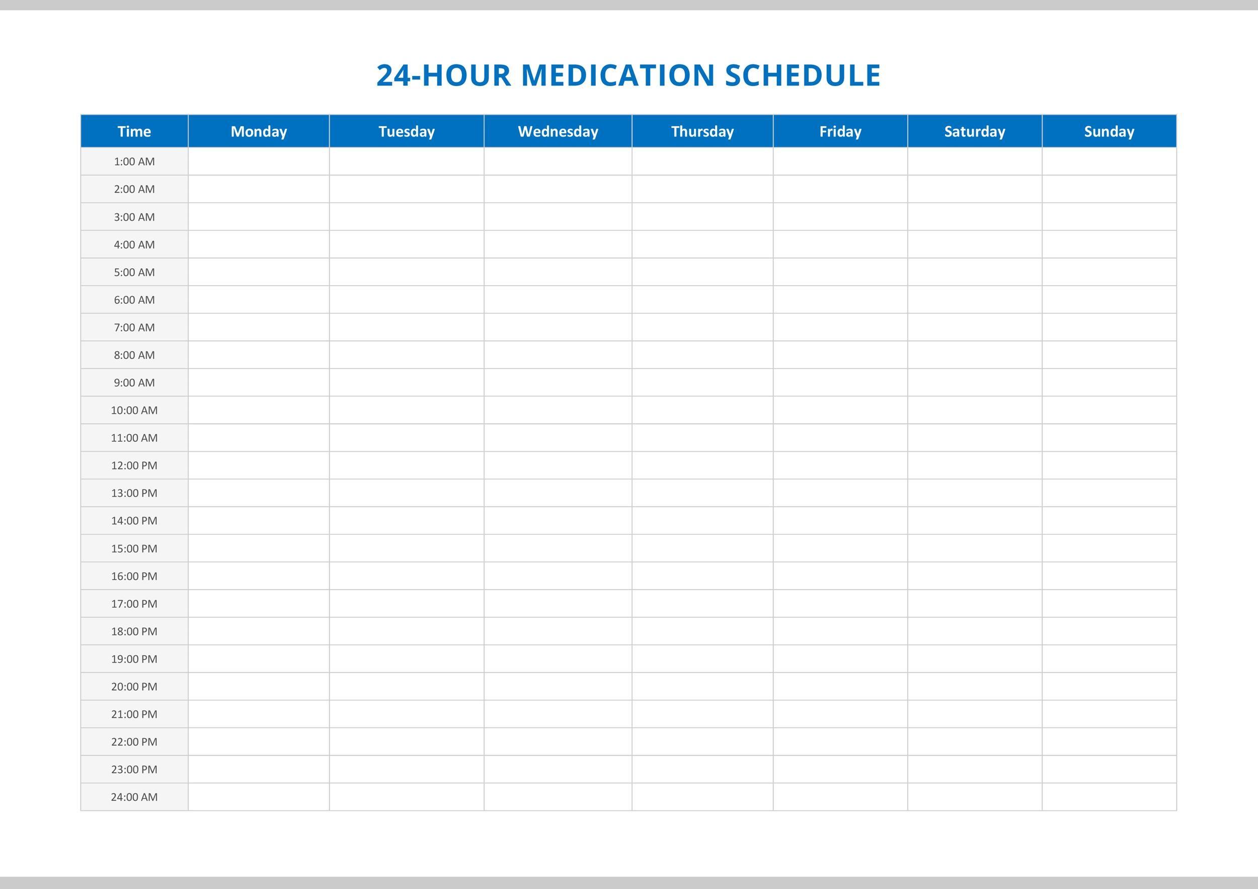 printable medication calendar template