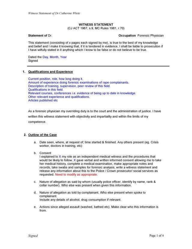 25 Professional Witness Statement Forms & Templates ᐅ TemplateLab