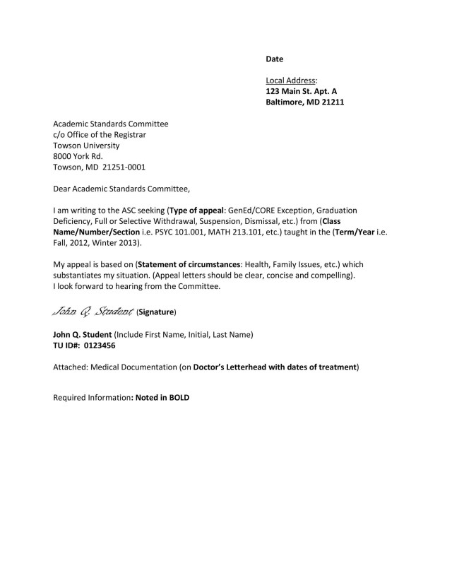 27 Effective Appeal Letters (Financial Aid, Insurance, Academic)