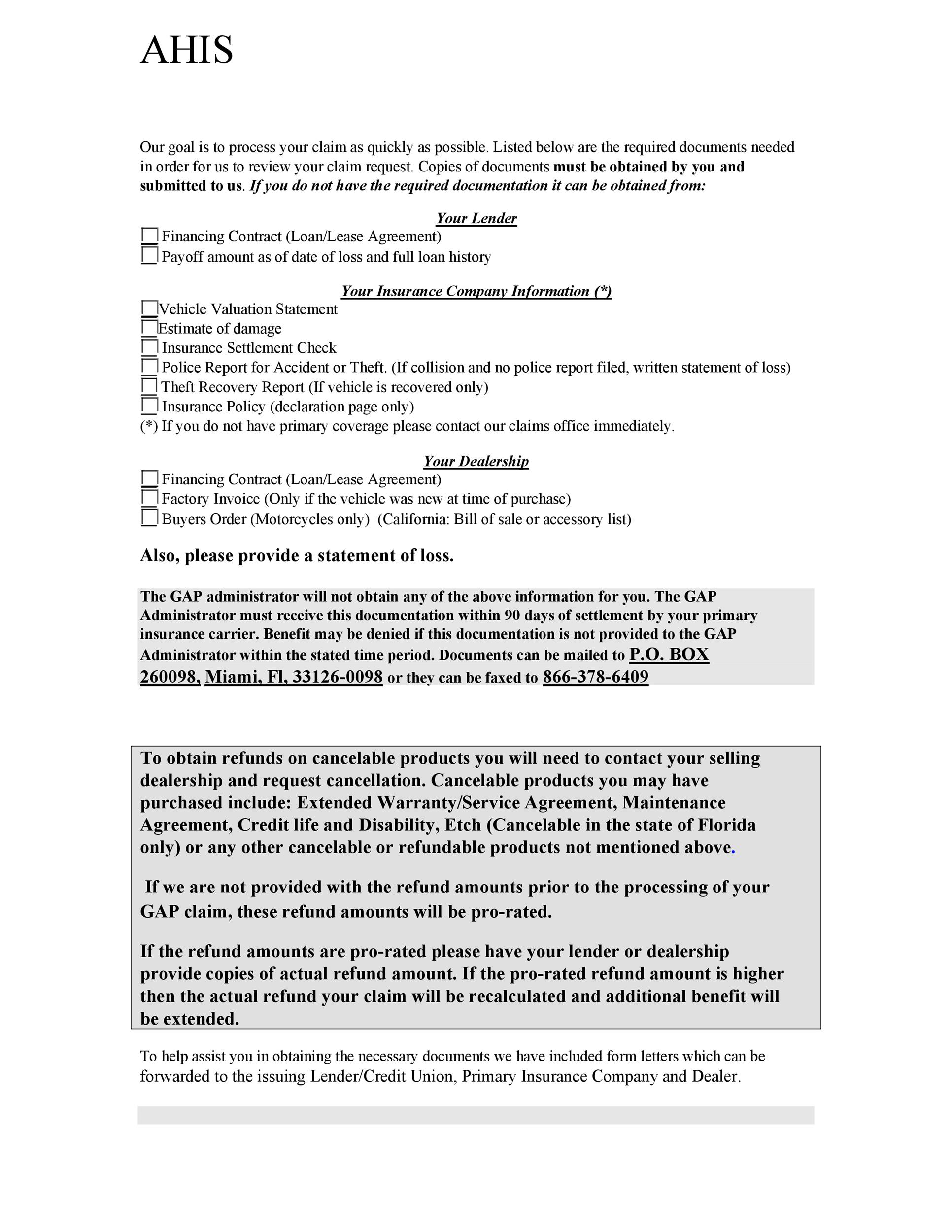 49 Free Claim Letter Examples How To Write A Claim Letter