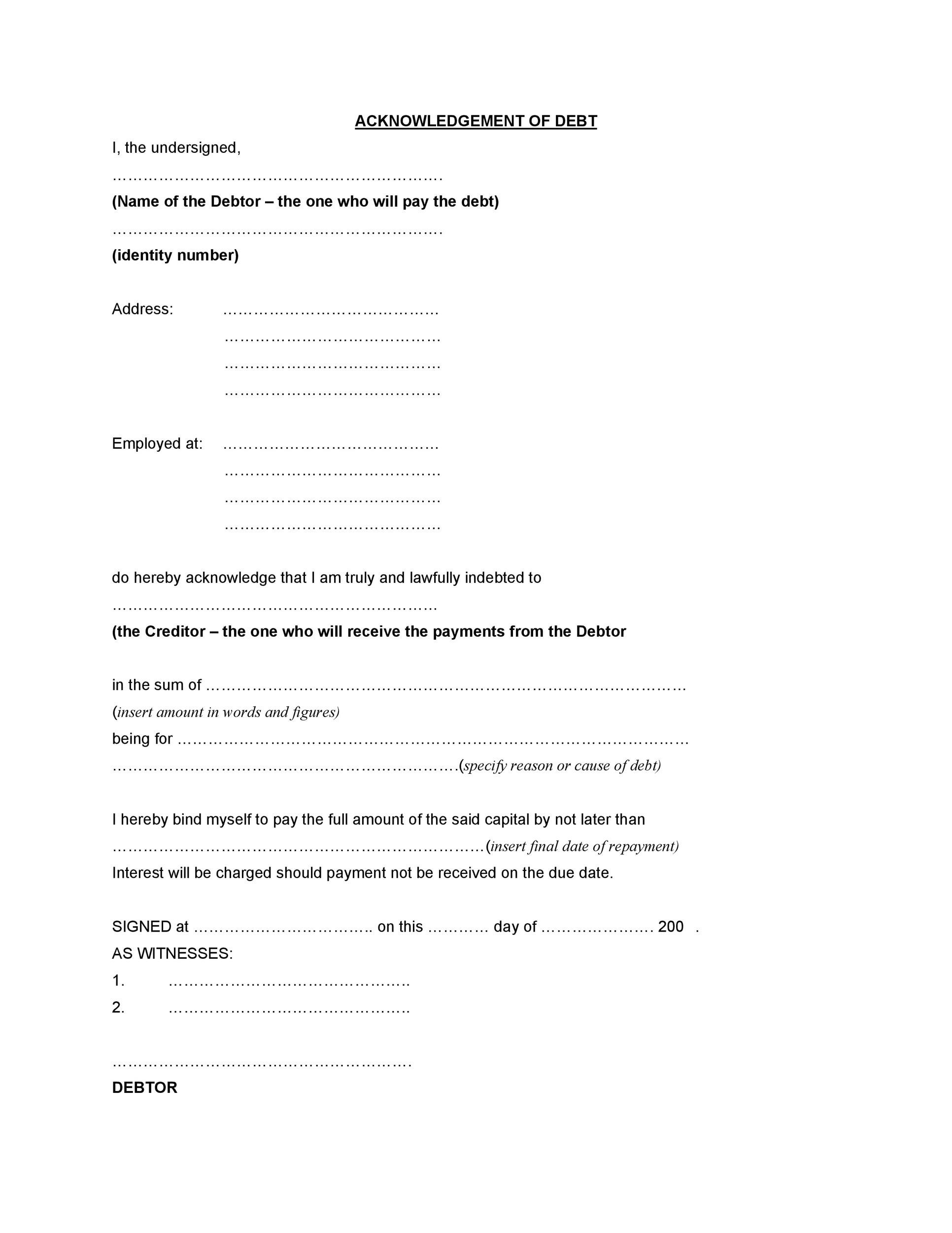 free iou template