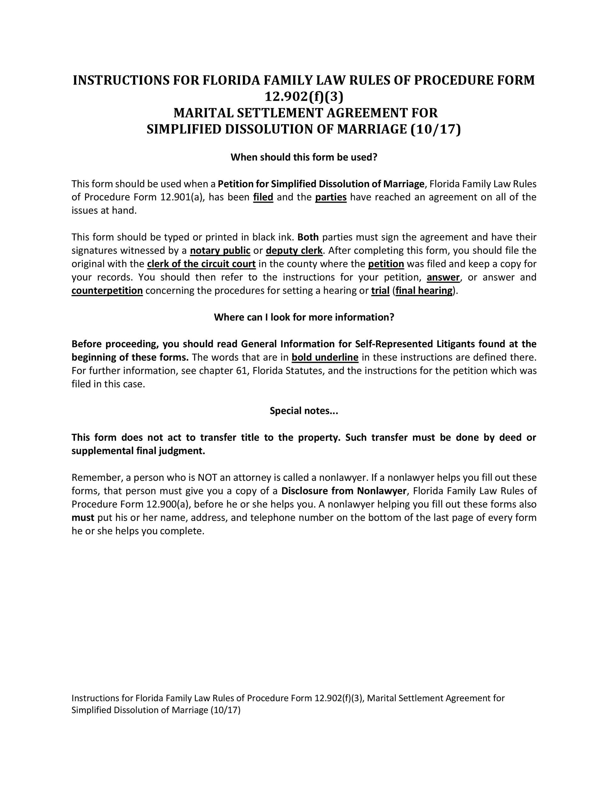43 Free Settlement Agreement Templates Divorce Debt