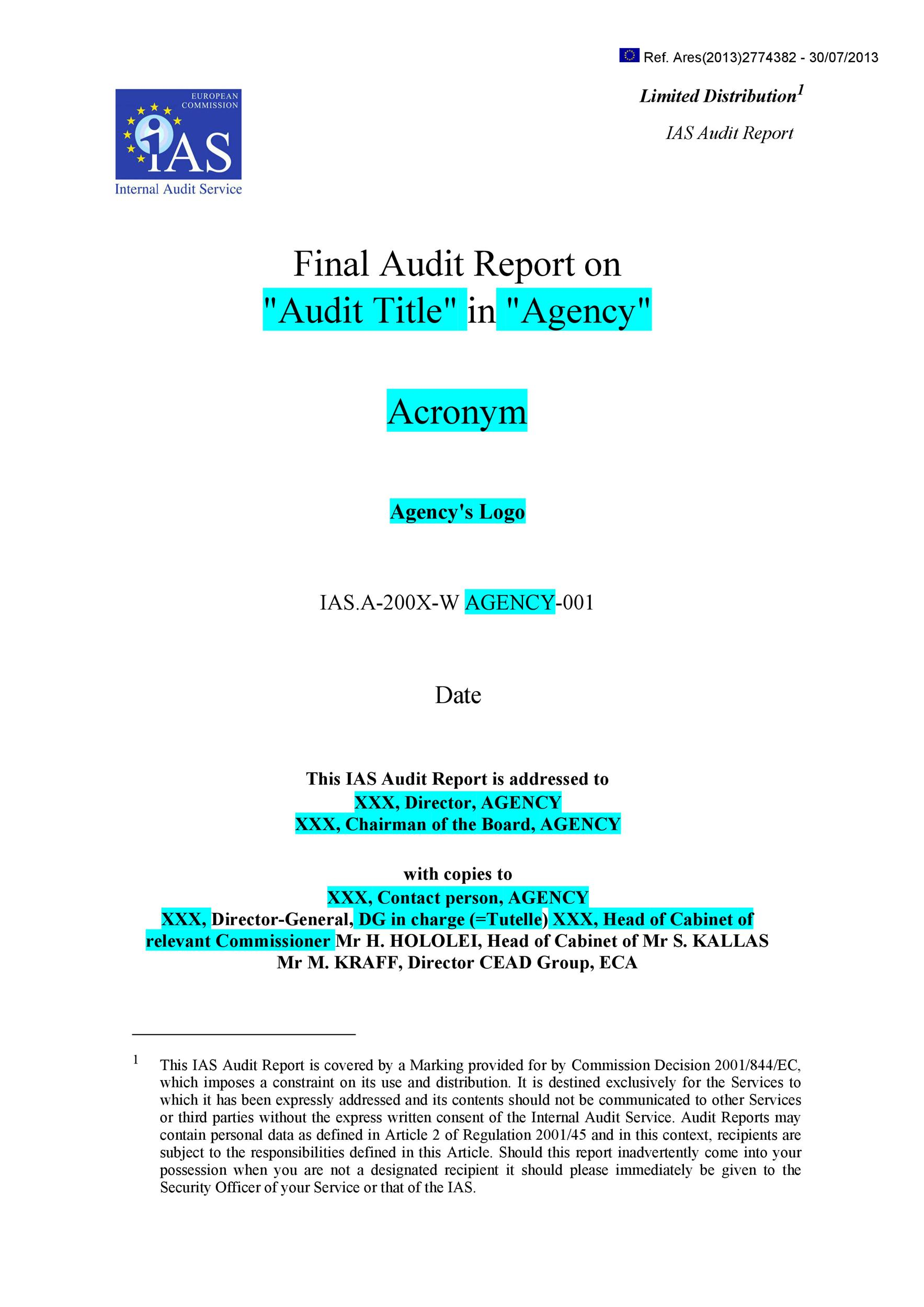 On a daily basis over $50,000 is collected by cashiers at 20 different locations. 50 Free Audit Report Templates Internal Audit Reports Á… Templatelab
