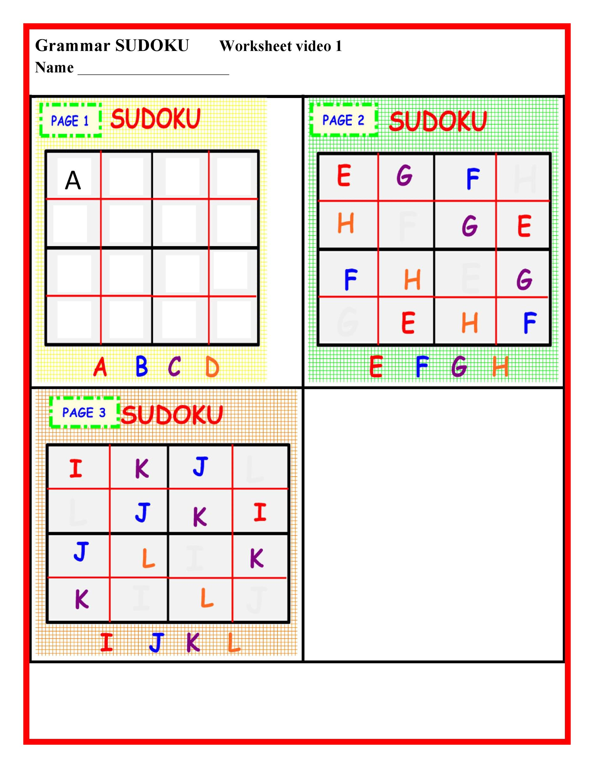 Top Printable Sudoku Grids