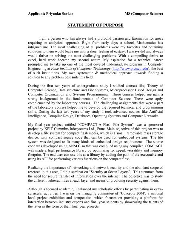 25 Statement Of Purpose Examples (Graduate School, MBA, PhD) ᐅ
