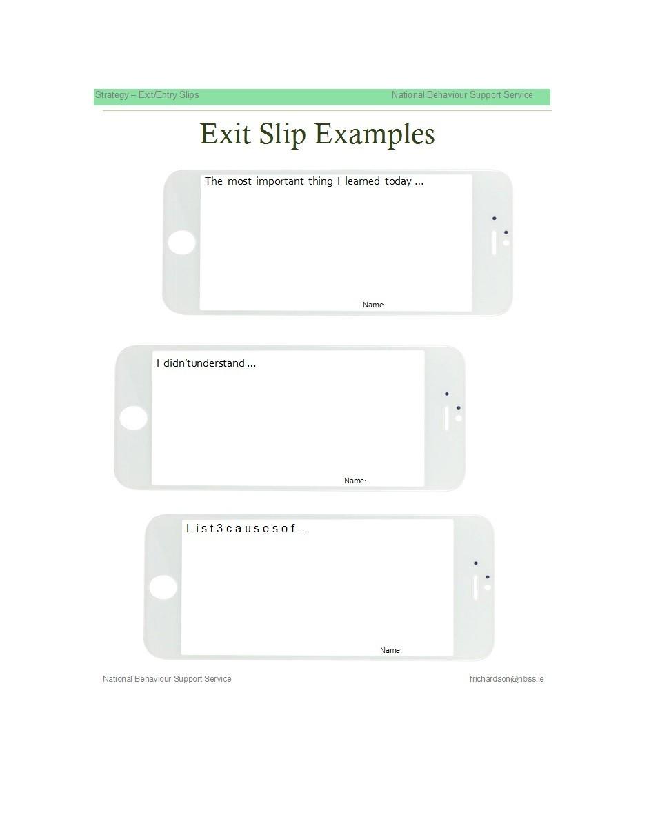 24 Printable Exit Ticket Templates (Word & PDF) ᐅ TemplateLab