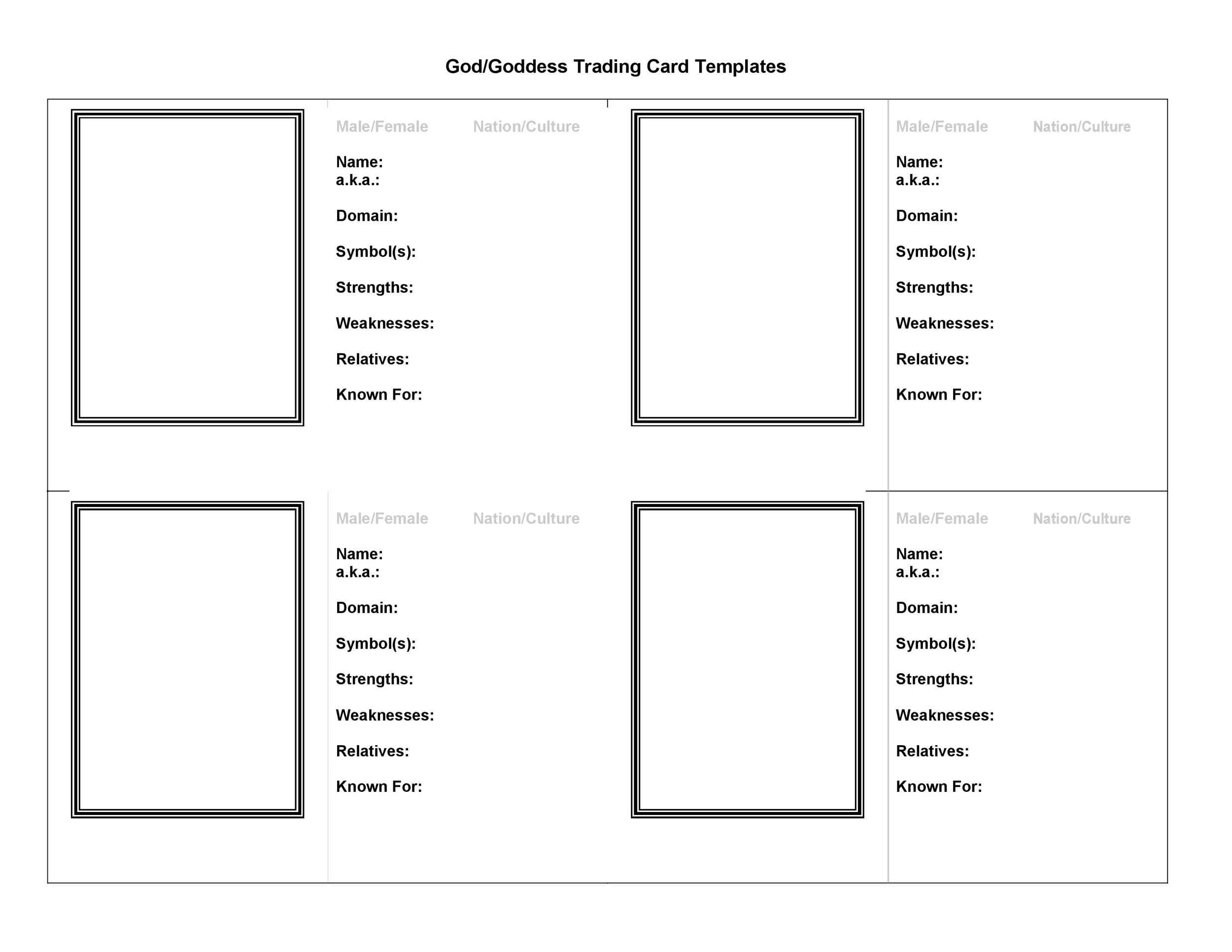 33 Free Trading Card Templates (Baseball, Football, etc