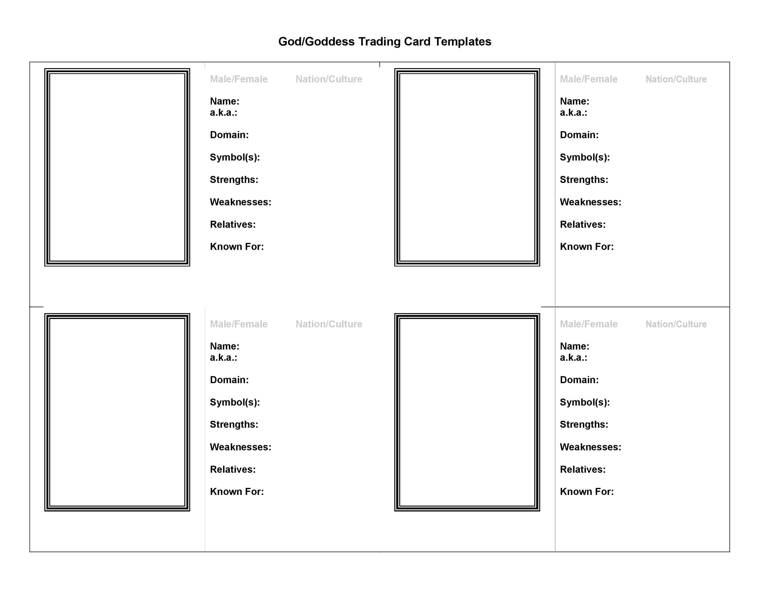 33 Free Trading Card Templates (Baseball, Football, etc