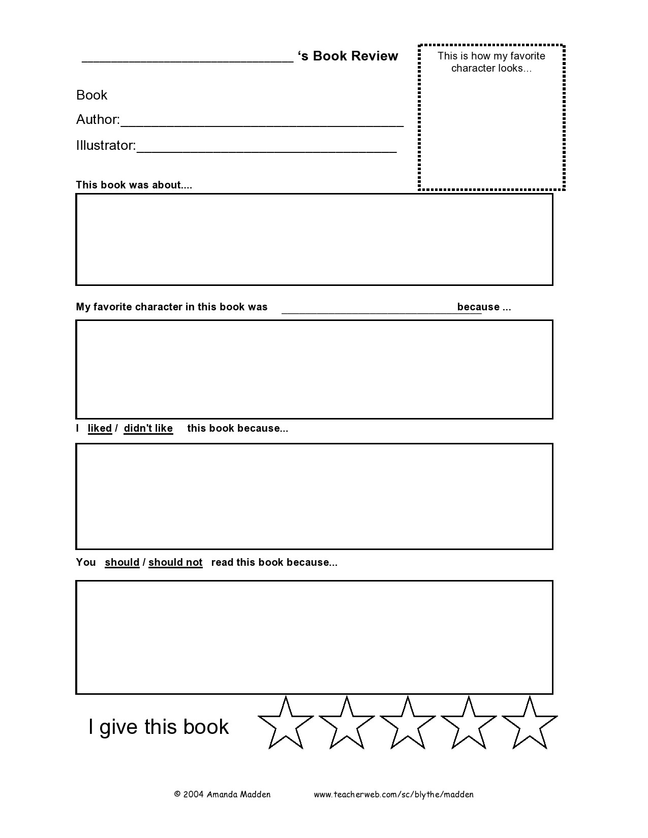 hight resolution of 50 Best Book Review Templates (Kids