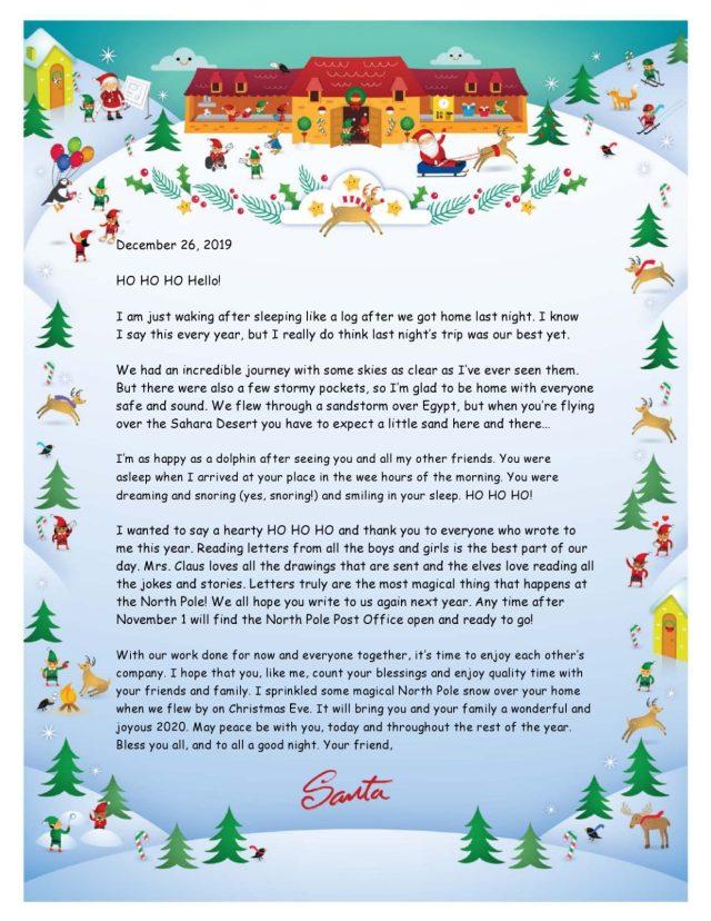 18 Printable Christmas Letter Templates [18% FREE] ᐅ TemplateLab