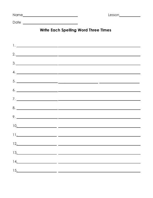 small resolution of 38 Printable Spelling Test Templates Word \u0026 PDF ᐅ TemplateLab