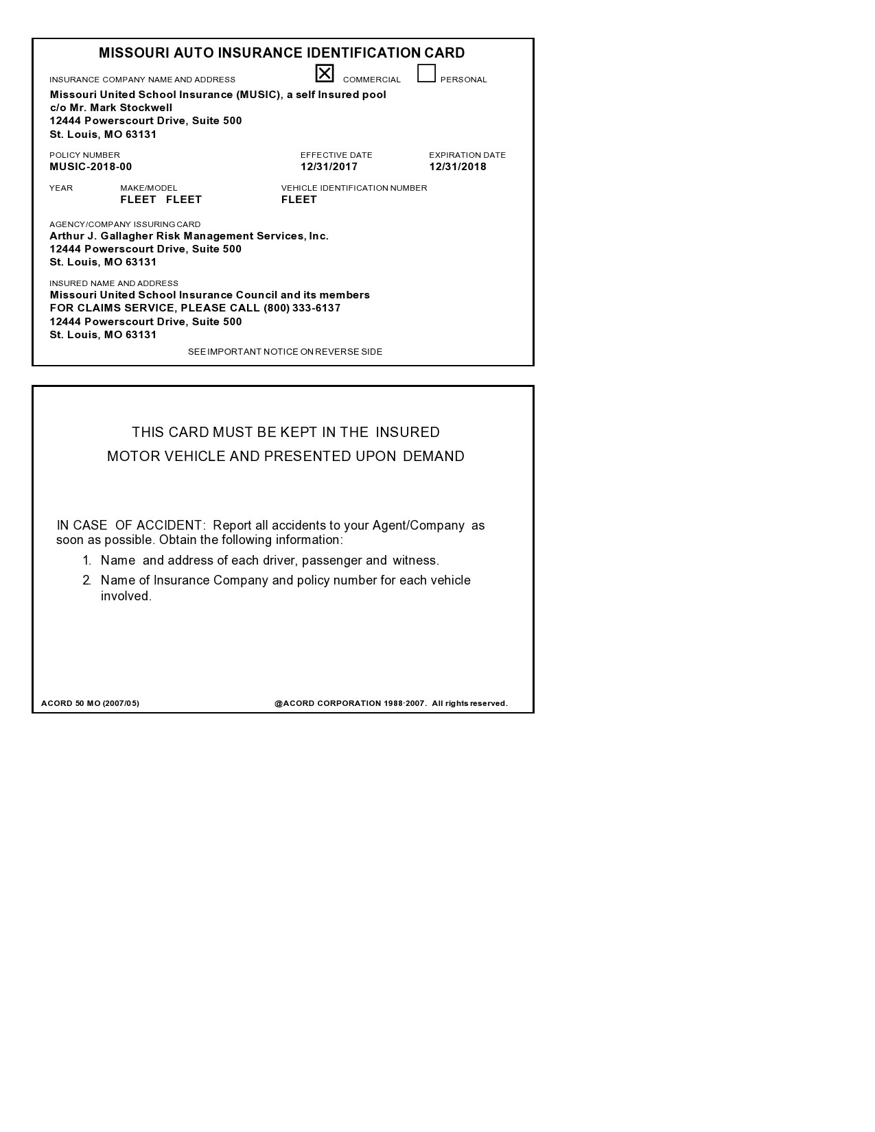 The certificate of insurance pdf template provides for use comprehensive details what is usually contained in an insurance policy. 10 Fake Real Insurance Card Templates 100 Free