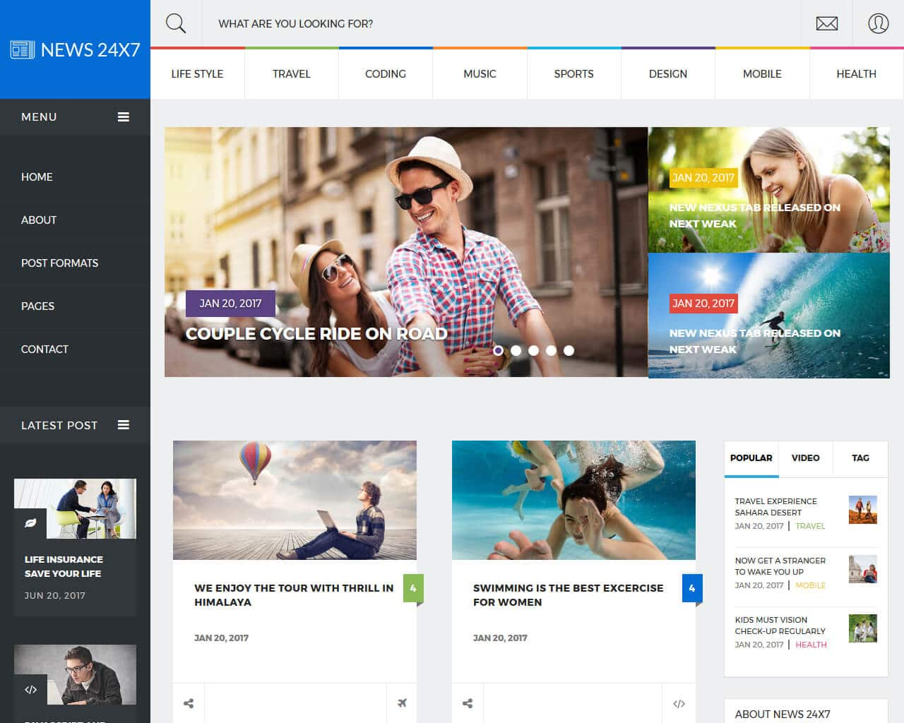 bootstrap news site