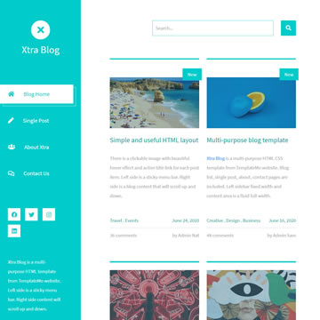 Though using website templates to kick off your site may be frowned upon by web designers and developers, if you need a website quickly and. Free Blog Website Templates By Templatemo