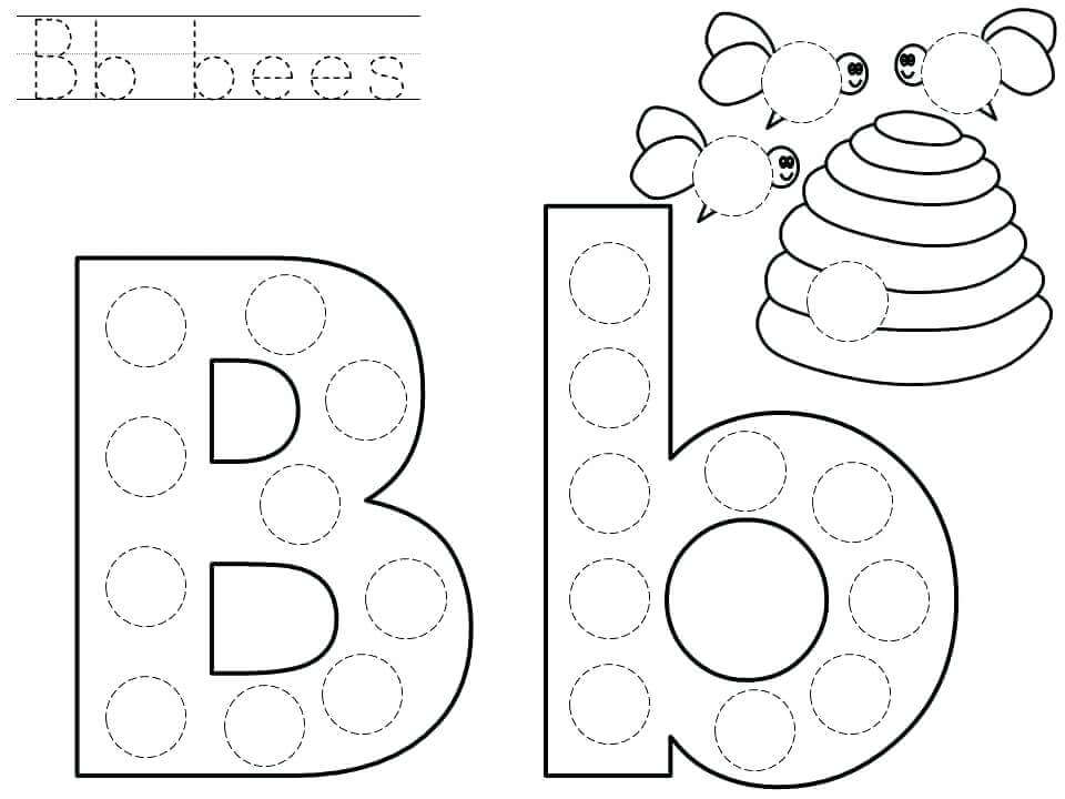 Downloadable Letter B Worksheets for Preschool