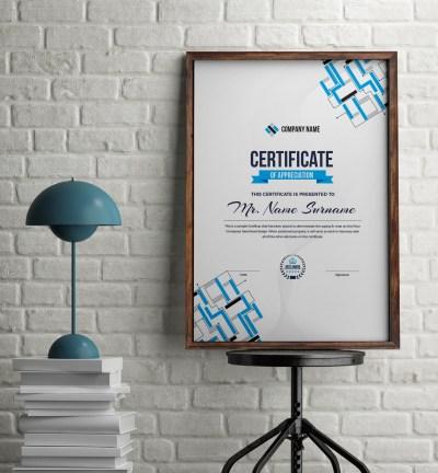 Apollo Elegant Portrait Certificate Template