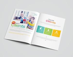 16 Pages Rainbow Elegant Corporate Brochure Template