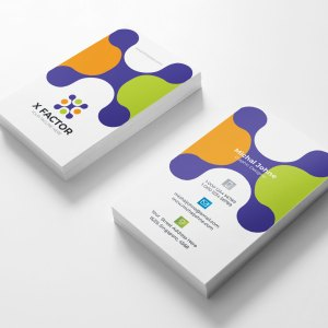 Colorful Visit Card Template