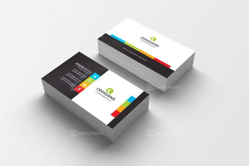 PSD Colorful Business Card Design