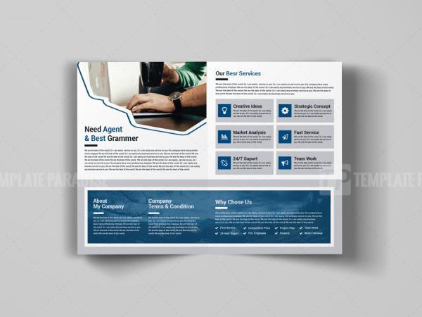 A4 Creative Bi-Fold Brochure