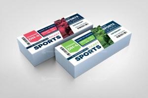Sport Event Ticket Design