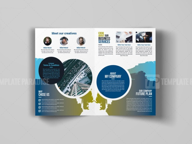 Art Bi-Fold Brochure Design
