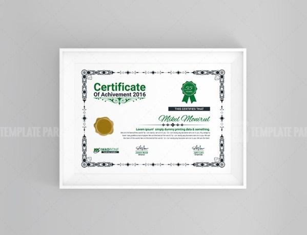 Plain Certificate Design