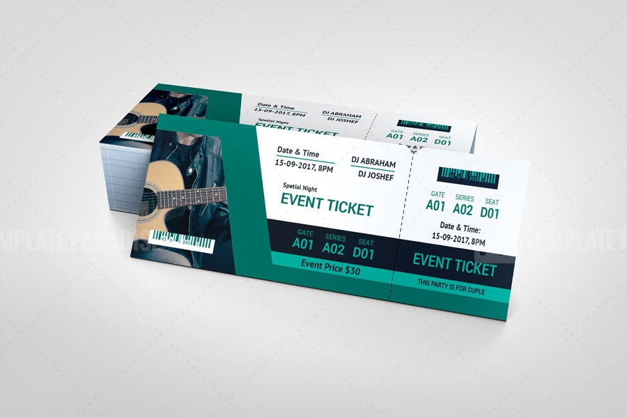 Sleek Event Ticket Design