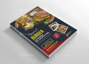 Burger Promotion Flyer Design