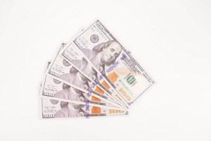 Close-up dollar banknotes
