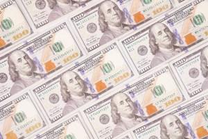 Hundred dollar banknotes photo