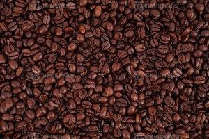 Mixture of coffee beans stock photo