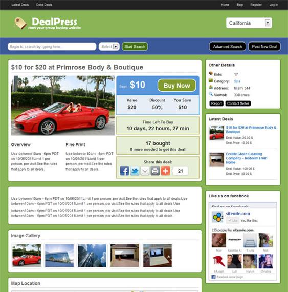 dealpress daily deal wordpress theme