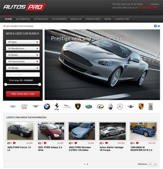 autos pro car dealership wordpress themes