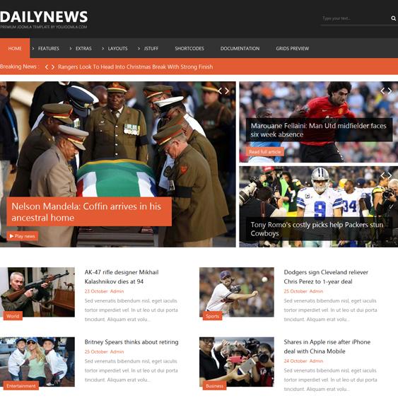 dailynews joomla template